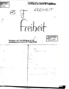 Freiheit translated is Freedom
