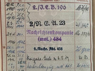 Herbert Gustav Lehmann German military document World War II